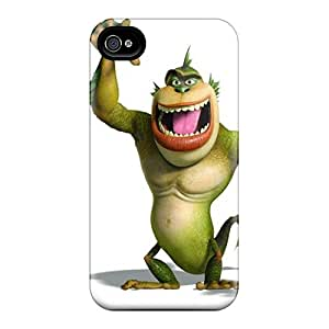 KerryParsons Iphone 4/4s Shock Absorbent Hard Cell-phone Cases Support Personal Customs Vivid Monster Pictures [YRh12642SbZI]