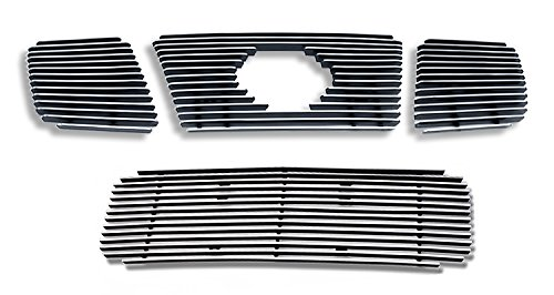 04-07 Nissan Titan/Armada Billet Grille Grill Combo Upper+Low Insert # N67992A (Nissan Titan Accessories Grill compare prices)