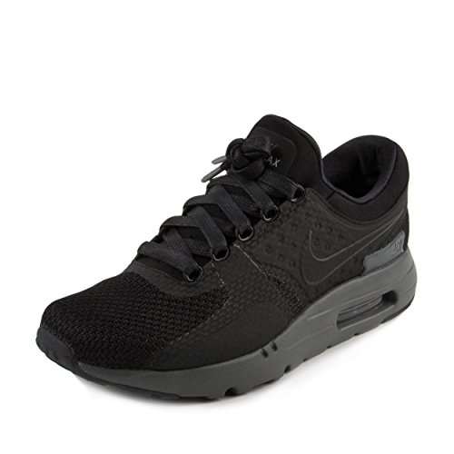 detailed look b723b 0a9eb Nike Mens Air Max Zero QS Black/Black/Dk Grey Running Shoe 13 Men US