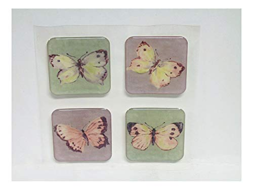 16 Butterfly Gems Decorate Shower Tiles Bath Tub Appliques Decal Stickers Repair by Unknown