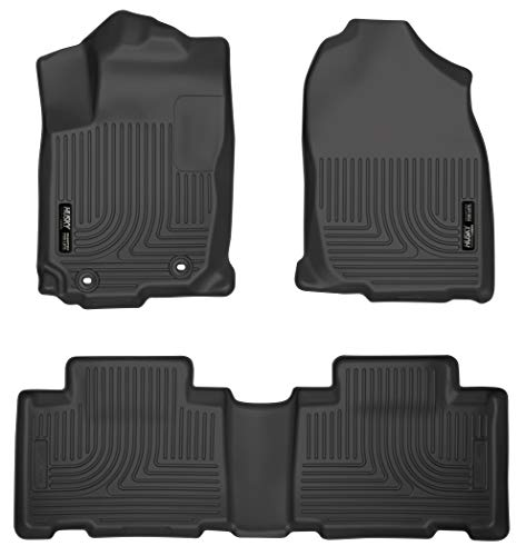 Husky Liners 98971 Black Weatherbeater Front & 2nd Seat Floor Liners Fits 2013-2018 Toyota RAV4