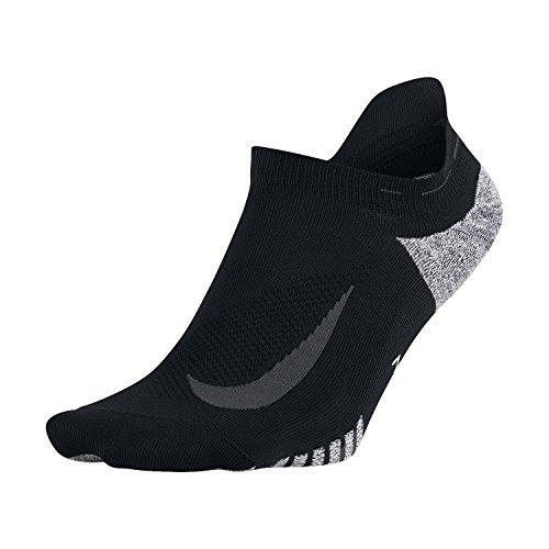 Nike Unisex NikeGrip Elite Lightweight No Show Running Socks Size 1 Black