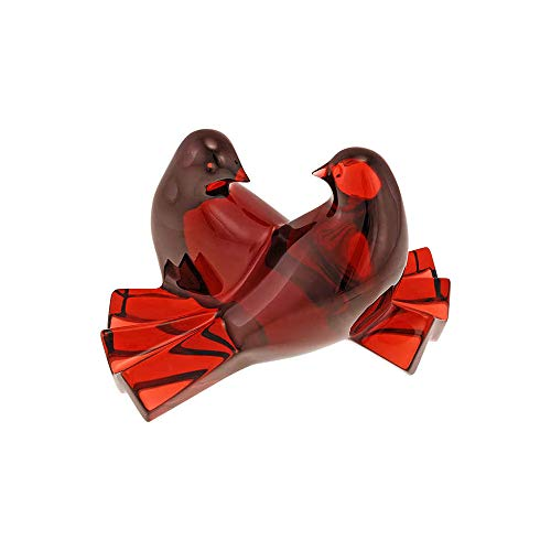 Baccarat Baccarat Crystal Figurines - Baccarat Crystal Loving Doves Ruby Figurine