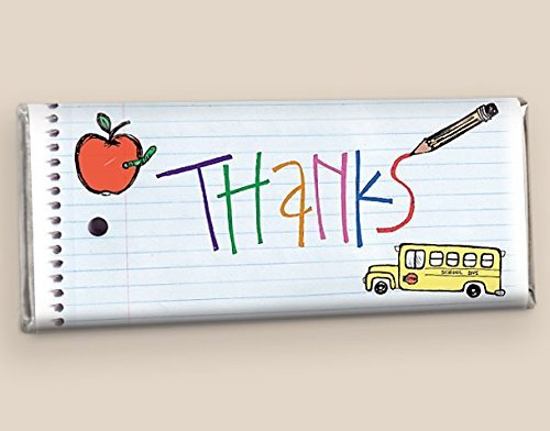 Teacher Appreciation Chocolate Gifts Notebook Thanks (25 Wrappers)