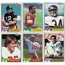 1981 Topps Football Complete Near Mint to Mint Set Featuring Joe Montana's Rookie Card, Art Monk, Kellen Winslow, Dwight Clark, Dan Hampton, Mark Gastineau, Walter Payton, Terry Bradshaw, Tony Dorsett, Phil Simms, Ken Stabler and Others!