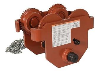Vestil E Mt 6 C Steel Low Profile Eye Manual Chain Geared