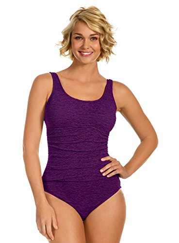 Krinkle Chlorine Resistant Empire Mio Acai Purple - Swimwear Chlorine Proof