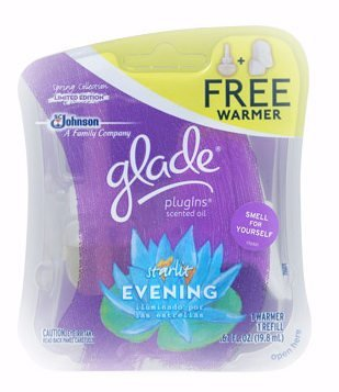 Glade Spring Collection PlugIns Scented Oil Starter Kit (1 Oil Refill & 1 Electric Warmer) ~ Starlit Evening ~ (Quantity 1)