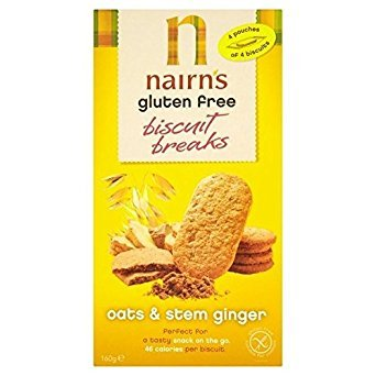 Nairn's Gluten Free Stem Ginger Biscuit Break 160g - Pack of 6
