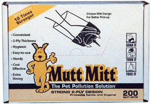 Mutt Mitt Dog Waste Pick Up Bag, - 200 Ct Bag