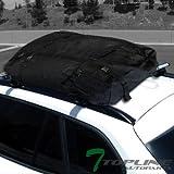 "Topline Autopart 50"" Silver Oval Adjustable Roof Rack Cross Bars+Waterproof Cargo Carrier Bag T1"