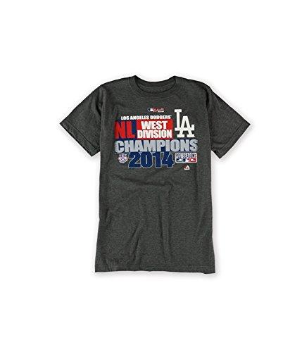 Majestic Mens 2014 Division Champ LA Graphic T-Shirt Grey ()