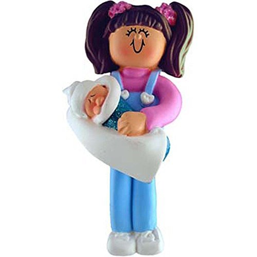 3942 Brunette Big Sister by Ornament Central