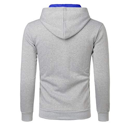 Hoodie m Capuche b Mcys À Pullover Sweat xxl Sweatshirt Homme Gris xAqP6Xwf60