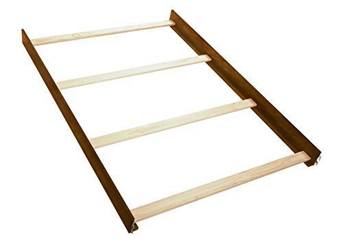 Lajobi Europa Baby Palisades Crib Full Size Conversion Kit Bed Rails - Walnut by Lajobi