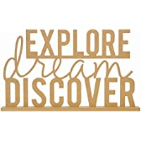 Kaisercraft SB2419 Beyond The Page Mdf Explore Dream Discover Standing Words-20.75X12.25x1.5,