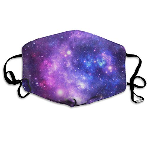 NOT Purple Space Stars Personality Lovely Unisex Dust Mask, Suitable for Young Men and Women, Ski Bike Camping Windproof Motorcycle Face Mask