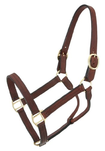 eather Track Halter, Brown, Horse (Brown Halter)