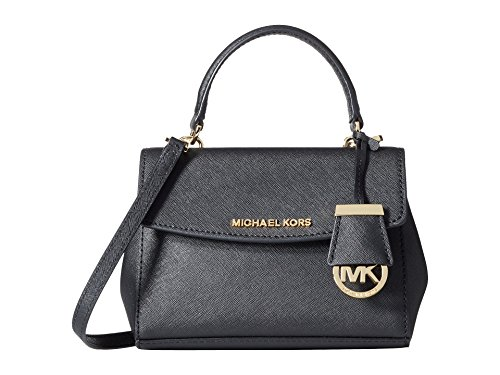 Michael Kors Women's Ava Extra Small Cross Body, Black, One Size (Extra Small Handbag)