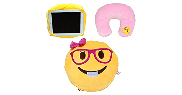 Amazon.com: 3 en 1 Emoji de almohada Lady Nerd Cute Girl ...