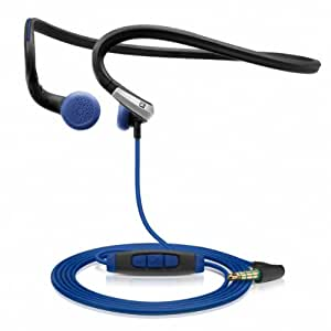Sennheiser PMX 685i Sports In-Ear Neckband Headphones - Black/Blue, 3.5 mm, angled (Discontinued by Manufacturer)