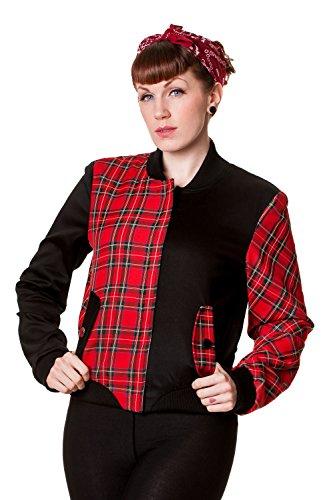 Banned-Half-Black-Half-Red-Tartan-Jacket