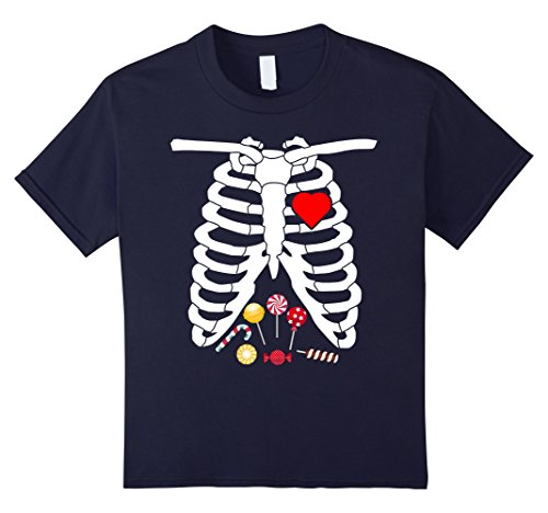 Kids Pregnancy Skeleton Candy T-shirt Pregnant Mommy Costume 12 (But Mommy Costumes)