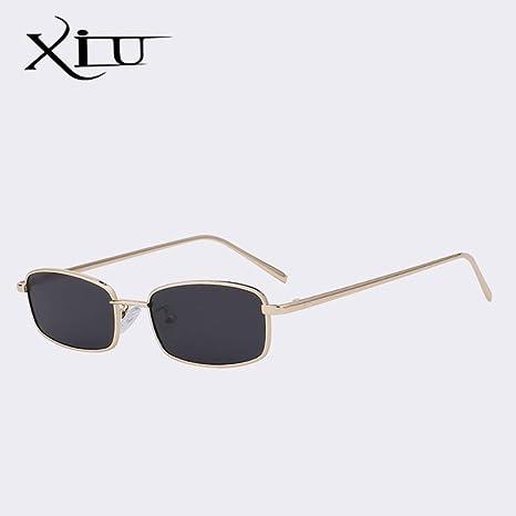 Yangjing-hl Gafas de Sol Mujeres Hombres Gafas rectangulares ...