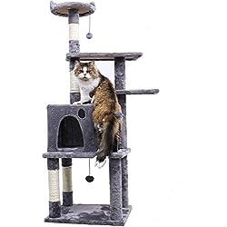 "PAWZ Road Cat Tree Furniture Condo Kitten Activity Tower Condo 54.7"" Gray"