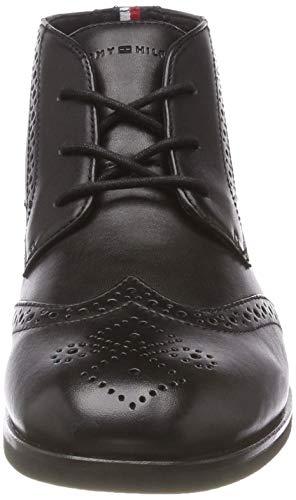 Casual Black Hilfiger Boot Tommy 990 Homme Derbys Dressy Leather Noir 8UEnFw