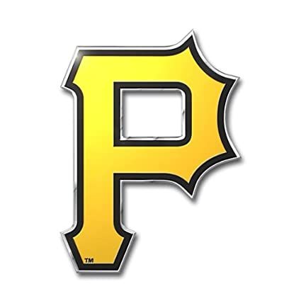 amazon com mlb pittsburgh pirates die cut color automobile emblem rh amazon com