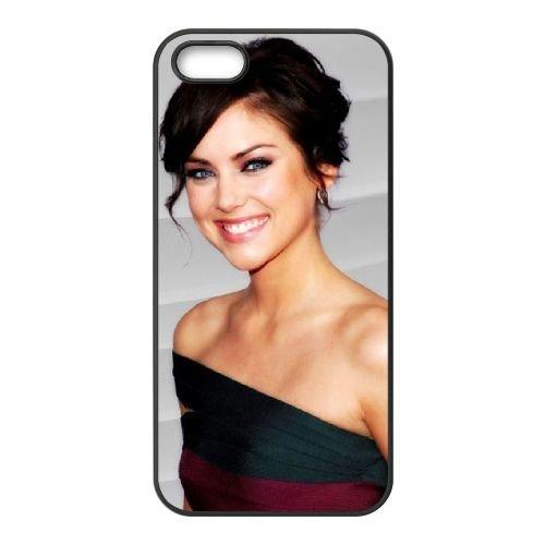 Jessica Stroup coque iPhone 5 5S cellulaire cas coque de téléphone cas téléphone cellulaire noir couvercle EOKXLLNCD24801