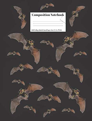 Composition Notebook: Vampire Bats Design Cover 100 College