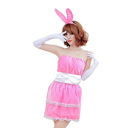 Sexy Santa Dress Up (Sexy Female Santa Claus Dress up Clothes Party Christmas Decoration Supplies Claus (Pink))