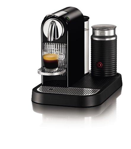 Nespresso D121-US4-BK-NE1 Citiz Espresso Maker with Aeroccino Milk Frother, Black