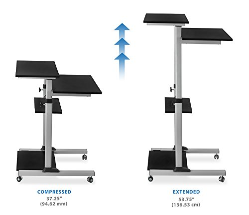 Mount It Mobile Stand Up Desk Height Adjustable