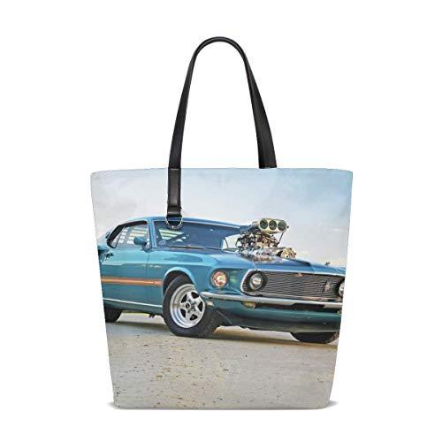 1969 Ford Pro Street Mustang Tote Bag Purse Handbag For Women Girls