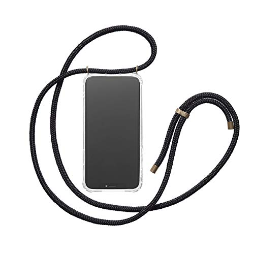 KNOK case Crossbody Phone Necklace | Mobile Cover with Cord Strap Compatible with iPhone 6 Plus/iPhone 6s Plus - Phone Collar Lanyard case (iPhone 6 Plus, Black)