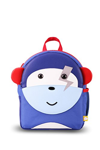 Pals Monkey (Puku Pals Premium Monkey Kids Blue Backpack Bag for Boys and Girls)
