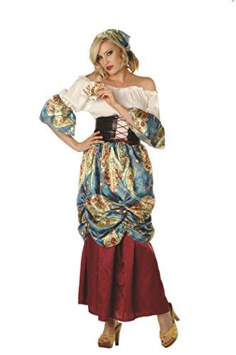 RG Costumes Women's Esmeralda, Burgundy/Blue/Cream/Multi,