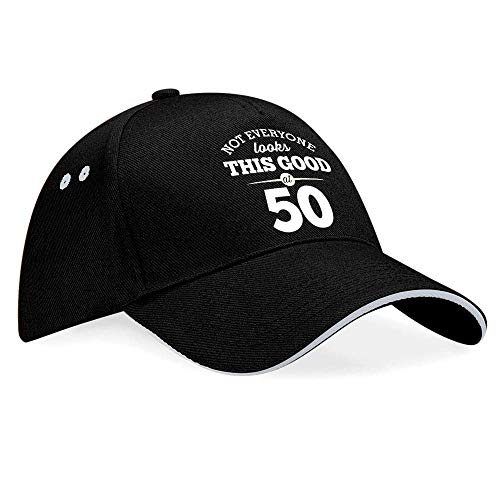 50th Birthday Baseball Cap Hat Gift Idea Present keepsake for Women Men