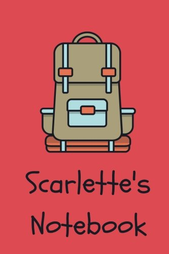 Scarlet's Notebook: backpack Cover 6x9