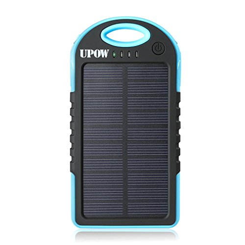 Upow 5000mAh Portable Charger Solar Power...