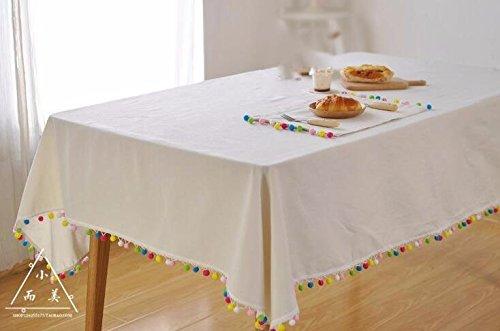 WFLJL mantel Estilo Europeo Home adornos navideños rectángulo blanco-crema toalla cubierta 60*60cm.: Amazon.es: Hogar