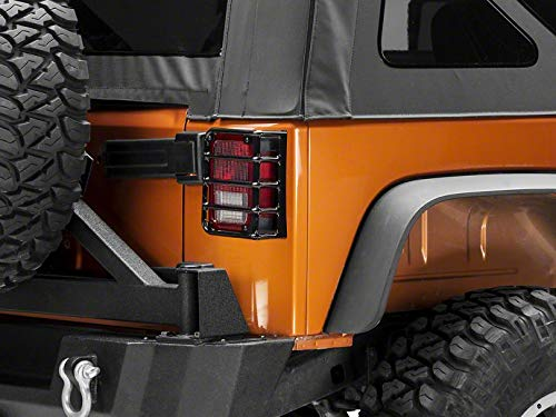 Redrock 4×4 Euro Style Tail Light Guards – Black – for Jeep Wrangler JK 2007-2018