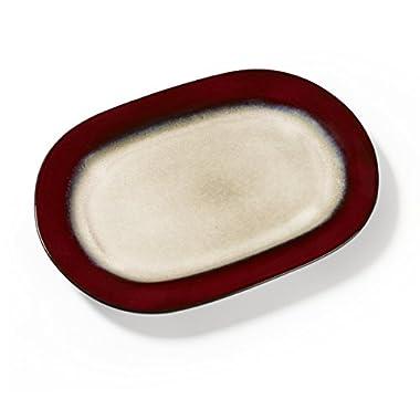 Pfaltzgraff Aria Oval Stoneware Platter (15-Inch, Red)