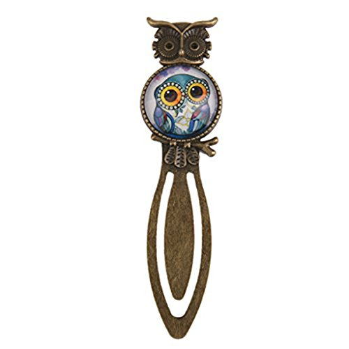 UEETEK Metal Night Owl Clip Bookmark Marker Reading Gift with Crystal - Crystal Bookmark