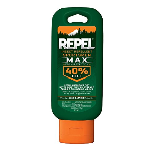 Repel Insect Repellent Sportsmen Max Formula Lotion 40% DEET, 4-Ounce ()
