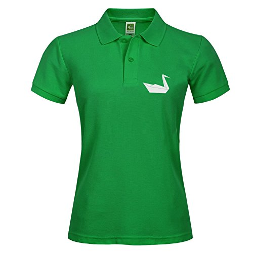 Xxx-large Polo T-shirt Short Sleeve With Origami Swan Pattern Casual Tees For Women - Outlet Polo Allen