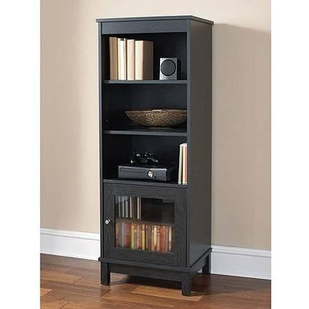 MAINSTAYS Ameriwood Black Audio Pier Bookshelf Bookcase